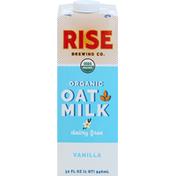 Rise Brewing Co. Oat Milk, Organic, Dairy Free, Vanilla
