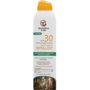 Australian Gold Sunscreen, with Insect Repellent, Continuous Spray, SPF 30