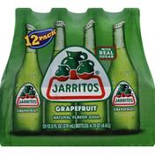 Jarritos Soda, Grapefruit, 12 Pack