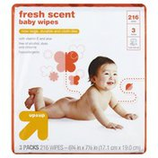 Up&Up Baby Wipes, Fresh Scent, 3 Packs