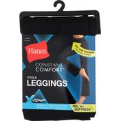 Hanes Yoga Leggings, Constant Comfort, Black, Large