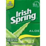 Irish Spring Deodorant Soap Aloe - 8 CT