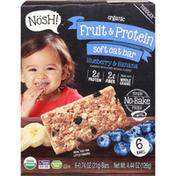 Nosh! Oat Bar, Fruit & Protein, Organic, Blueberry &  Banana, Soft
