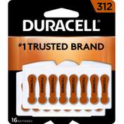 Duracell Batteries, Zinc Air, 312