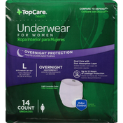 TopCare Underwear, Overnight Protection, Light Lavender Color, Large, for Women