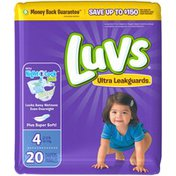 Luvs Ultra Leakguards Diapers Size 4 20 count Diapers