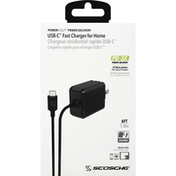 Scosche Fast Charger for Home, USB-C, 6 Feet
