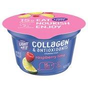 Light + Fit Nonfat Raspberry Lime Icelandic Style Yogurt with Collagen & Antioxidants