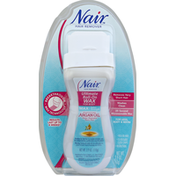 Nair Hair Remover, Max, Moroccan Argan Oil, Ultimate Roll-On Wax for Body