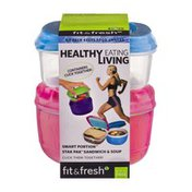 Fit & Fresh Smart Portion Stak Pak Sandwich & Soup Containers
