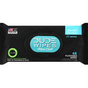 Dude Wipes Flushable Wipes, Mint Chill, Extra Large