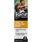Paws Happy Life Litter Box Liners, Twist Tie