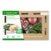 Home Chef Meal Kit French Onion-Crusted Pork Chop With Green Beans Almondine