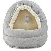 """Harmony 17"""" x 15"""" Grey Hooded Cave Cat Bed"""