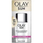 Olay Face Sunscreen + Makeup Primer, SPF 35