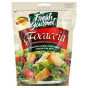 Fresh Gourmet Croutons, Focaccia, Roasted Garlic Flavoured