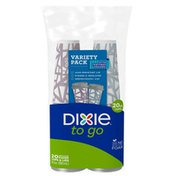 Dixie To Go Paper Coffee Cups & Lids, 20oz Disposable Hot Cups (Variety Pack)