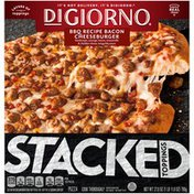 DiGiorno STACKED TOPPINGS BBQ Recipe Bacon Cheeseburger Frozen Pizza