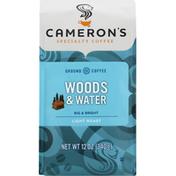 Camerons Coffee, Ground, Light Roast, Woods & Water