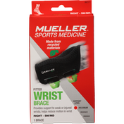 Mueller Wrist Brace, Fitted, Right, Maximum, Small/Medium