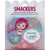 Smackers Glitter Palette, Sparkle & Shine Color, Eyeshadow, Blush