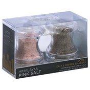Olde Thompson Salt & Pepper Shakers, Comet, Himalayan Pink Salt