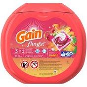 Gain flings! Laundry Detergent Pacs, Tropical Sunrise, 66 count Laundry