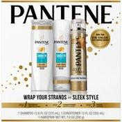 Pantene Shampoo, Conditioner & Hairspray 3 Pc Hair Care Variety Pack