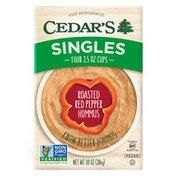 Cedar's Foods Roasted Red Pepper Hommus Singles