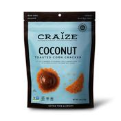 Craize Corn Coconut Toasted Corn Crackers