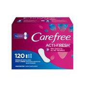CAREFREE Acti Fresh Pantiliners, Unscented