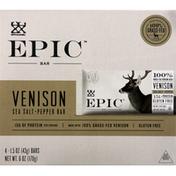 Epic Venison Bar, Sea Salt + Pepper