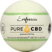 Enfusia Bath Bomb, with Benefits, Eucalyptus