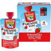 Horizon Organic Growing Years Low Fat Strawberry Yogurt Pouch with DHA Omega-3 and Choline