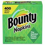 Bounty Paper Napkins, White