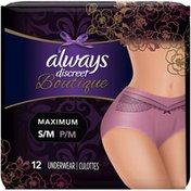 Always Discreet Boutique Maximum Small/Medium Incontinence Underwear