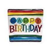 "Amscan 10"" Rainbow Happy Birthday Dinner Plates"