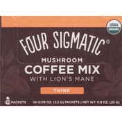 Four Sigmatic Coffee Mix, Mushroom, Think, Packets