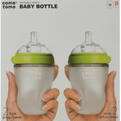 comotomo Baby Bottle, 8 Ounce, 2 Pack