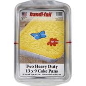 Handi-Foil Cake Pans, Heavy Duty, 13 x 9