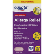 Equate Allergy Relief, 180 mg, Non-Drowsy, Coated Caplets, Value Pack