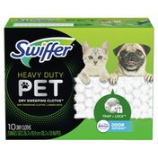 Swiffer Sweeper Pet Heavy Duty Multi-Surface Dry Cloth Refills for Floor Sweeping and