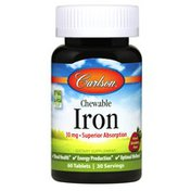 Carlson Labs Chewable Iron, Strawberry