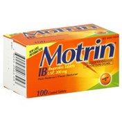 Motrin Ibuprofen Tablets, 200 mg, Coated Tablets
