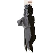 Kitsch Scarf Scrunchie, Blck/Gray