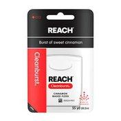 Reach Cleanburst Waxed Floss, Cinnamon