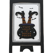 Gerson Halloween Sign, with Easel, Wood, 10 inch, Assorted
