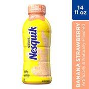 Nestle Nesquik Banana Strawberry Flavored Lowfat Milk Ready to Drink