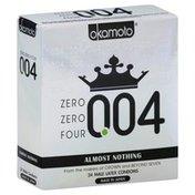 Okamoto Condoms, Male, Latex, Lightly Lubricated