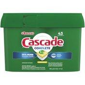Cascade Complete ActionPacs, Dishwasher Detergent, Lemon Scent